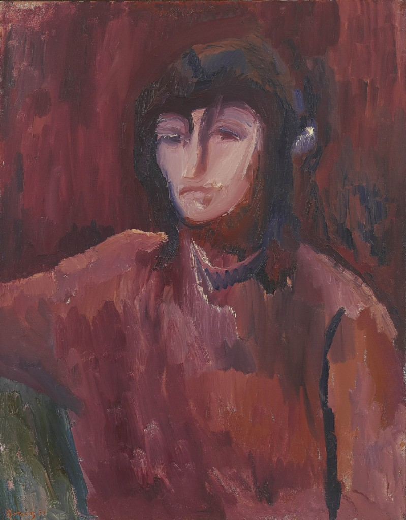 David Bomberg, Portrait of Dinora, 1952, Oil on Canvas, 91 x 71 cms