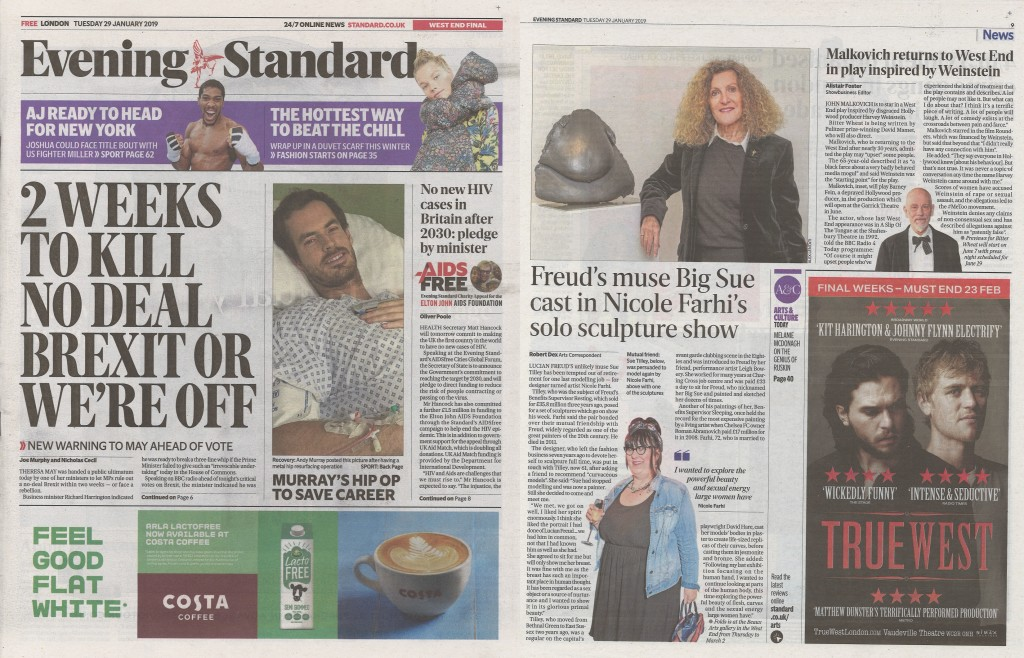 Evening Standard (UK) 29th January 2019