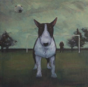 Headers and Volleys (2014), Oil on Linen, 35.5 x 35.5cm (14 x 14 inches)
