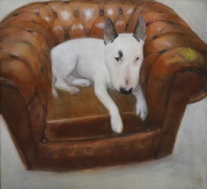 Londons Topdog (2011/12), Oil on Linen, 56 x 61cm (22 x 24 inches)