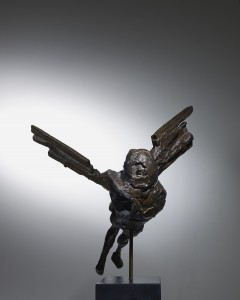 Elisabeth Frink, Maquette for the Alcock and Brown Memorial (Horizontal Birdman) (1962), Bronze, Edition 7 of 9, H35.5 x W40.5cm. FCR114.