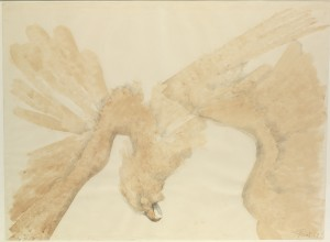 Fallen Eagle (1967), Watercolour and Pencil on Paper, 72 x 98cm (28.5 x 38.5 inches)