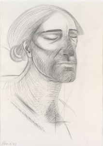 Head of Christ (1983), Pencil on Paper, 100 x 70cm