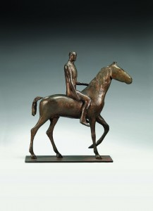 Horse and Rider (1970), Bronze, Edition of 7, H52.1 x W50.8cm. FCR220.