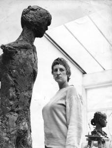 Elisabeth Frink in Studio