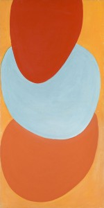 Terry Frost, Ginger Green, 1970, Acrylic on canvas, 154 x 78 cm (60.6 x 30.7 inches)