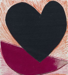 Terry Frost, Hearts, c.1998, Collage on board 35.8 x 33.2 cm (14.1 x 13.1 ins)