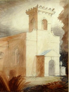 Pusey Church (1941), Watercolour and Ink, 50.8 x 36.83cm