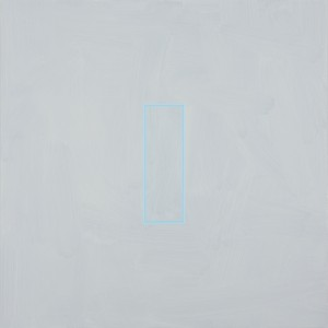 Pale Brilliant Blue (2014), Acrylic on Aluminium, 84 x 84cm