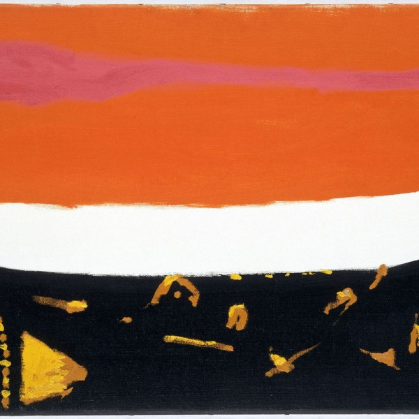 Orange and Brown (1968), Oil on Canvas, 51 x 76cm