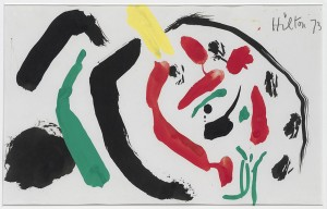 Roger Hilton, Red, Black and Green, 1973, Gouache on Paper, 21 x 34cm (8.25 x 13.25 inches)
