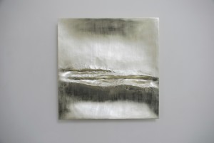 Simon Allen, Atlantic III (2014), 12ct White Gold on Carved Wood, 85 x 85cm (33.5 x 33.5 inches)