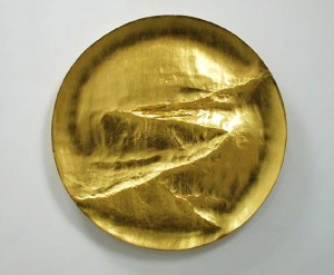 Simon Allen, Path, 2014, 22ct Gold on Carved Wood, 112cm (44 inches)