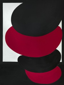 Terry Frost, Stacked Red Pisa, 1971, Acrylic on canvas 244 x 183 cm (96 x 72 inches)