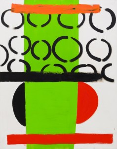 Green and Orange (1970), Acrylic on Canvas, 185.5 x 157.5cm