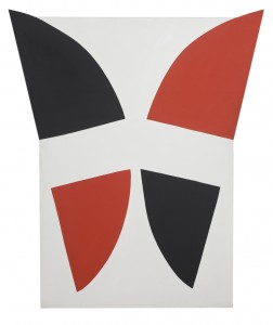 Red, Black and White Movement (1968), Acrylic on Canvas, 185.5 x 157.5cm
