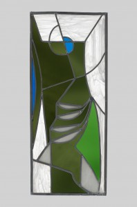 Terry Frost, The Quay – St. Ives, c.1990, Stained Glass Panel, 77.5 x 33 cm (30.5 x 13 inches)