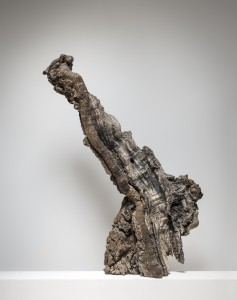 Old Giant (2015), Unique Bronze, Found Wood, 114 x 72 x 28cm