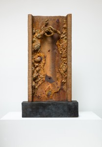 The Fallen (2015), Unique Bronze, Found Steel, 89 x 43 x 9cm (excluding base) (35 x17 x 3.5 inches)