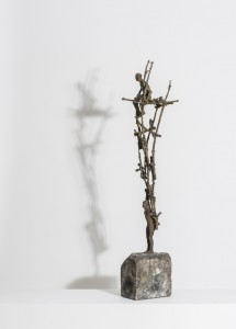 Two As One (2014), Unique Bronze, 84 x 10 x 16cm