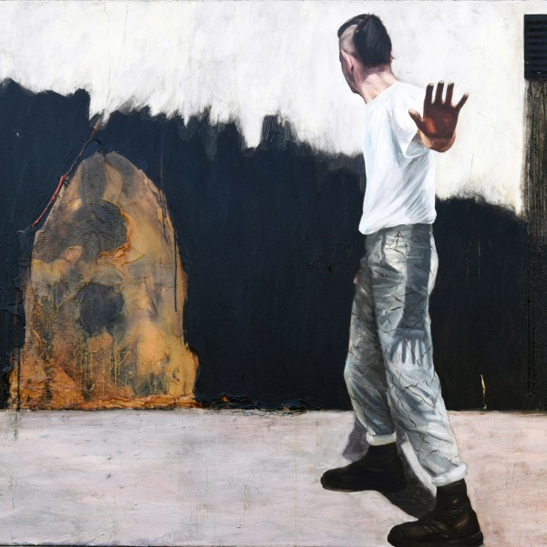 Last Supper at the Café Ole (1989-2010), Oil and Encaustic on Canvas, 150 x 180cm
