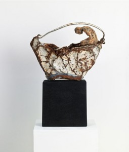 Bucket (2012), Bronze and Found Steel, Unique, 50 x 37 x 13 cm