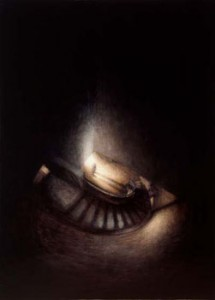 Anon Stairwell (2001-03), Oil on Canvas, 42 x 30.5cm