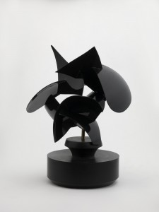 Circus (2010), Powder Coated Stainless Steel and Black Nylon, Unique, 26.7 x 14cm (10.5 x 5.5 inches)