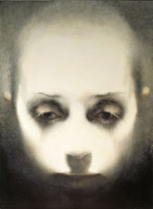 Head-Looking Down (2005-07), Oil on Canvas, on Board, 111.25 x 81.25cm