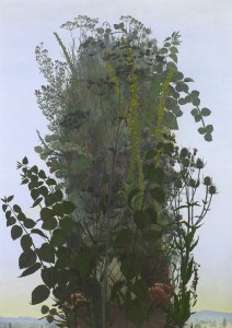 Jonathan Leaman, Stèle, 2012-16, Oil on canvas, 72 x 51 inches