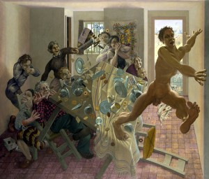 Jonathan Leaman  New Year (2004-05), Oil on Canvas, 29.5 x 21 inches