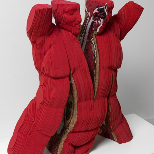 Split Petcetrix (2010), Foam Rubber, Bonded Nylon and Seed Beads, Edition of 3, H80 x W100 x D60cm