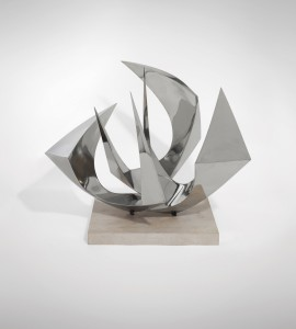 Paul Mount, Spirit of Bristol (Maquette) (c.1968), Stainless Steel on Stone Base, H86.3cm (34 inches)