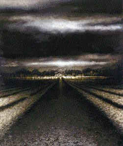 Vagator Road (1997-99), Oil on Board, 56 x 48""