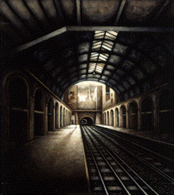 Bayswater Station, W2 (1997-99), Oil on Board, 53 x 47 inches