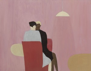 Anne Rothenstein, Red Chairs (2), Oil on Wood, 61 x 81 cm, 23.6 x 32.2 ins