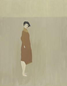 Anne Rothenstein, Brown coat, Oil on Wood, 90.5 x 70 cm, 35.6 x 27.5 ins