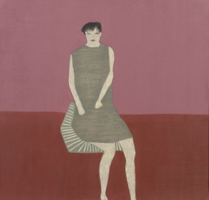 Anne Rothenstein, Green Silk Dress, Oil on Wood, 71 x 74 cm, 27.5 x 28.5 ins