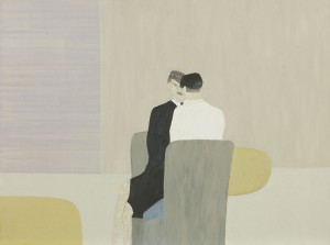 Anne Rothenstein, Grey Chairs, Oil on Wood, 60.5 x 79 cms, 23.8 x 31 ins