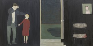 Anne Rothenstein, Interior: Night, Oil on Wood, 61 x 122 cm, 24 x 48 ins