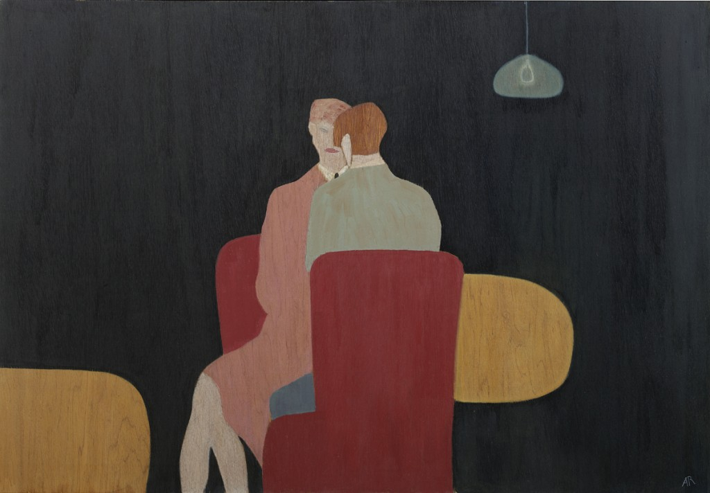 Anne Rothenstein, Red Chairs, 2017, Oil on Wood 71 x 102 cms (28.3 x 40.1 inches)
