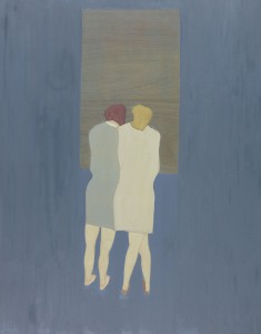 Anne Rothenstein, Two Figures / Blue room, Oil on Wood, 91 x 71 cm, 35.8 x 27.5 ins