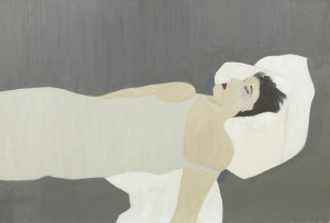 Anne Rothenstein, White Pillow, Oil on Wood, 61 x 91 cm, 24 x 35.8 ins