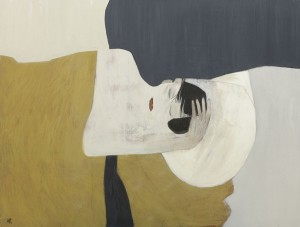 Anne Rothenstein Yellow Bed, Oil on Wood, 71 x 89 cm, 27.5 x 35.4 ins