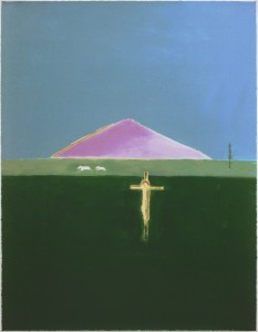 Cragie Aitchison, Crucifixion and Mountain, 2005, Silkscreen, 110 x 85.5 cm (43.23 x 33.60 inches) Artist's Proof aside from the Edition of 75
