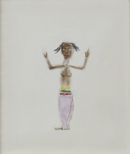 Craigie-Aitchison-Dancing-Girl-Oil-Canvas