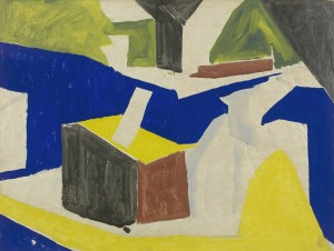 David Bomberg, Bargees, 1919, Watercolour on Paper, 42 x 54 cms