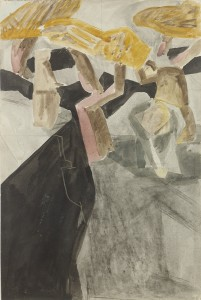 David Bomberg, Composition 1921, 1921, Watercolour on Paper, 56 x 38 cms