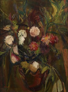 David Bomberg, Flowers in a Vase, 1943, Oil on Canvas, 110 x 81.5 cm