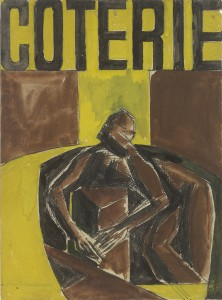 David Bomberg, Study for Coterie, 1919, Watercolour on paper, 26 x 19 cms